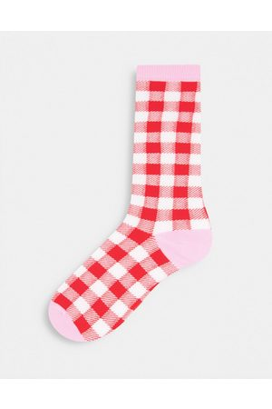 TYPO Socks in red gingham design