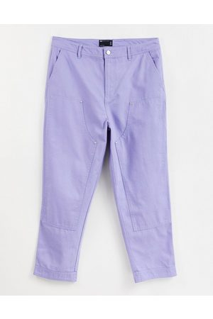 ASOS DESIGN Skater trousers with laid on panels in purple
