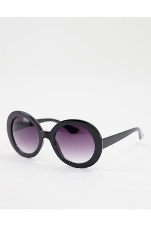 Jeepers Peepers Mujer Deportivos - Womens round sunglasses in black
