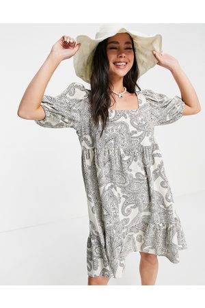 Object Mini smock dress in paisely print