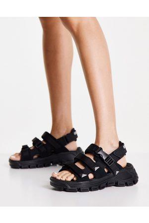 Cat Footwear CAT Progressor Buckle chunky utility sandals in black