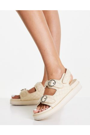 Simply Be Quilted chunky sandal in stone