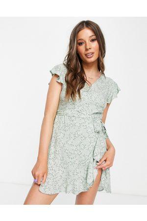 Aeropostale Frill wrap dress in mint