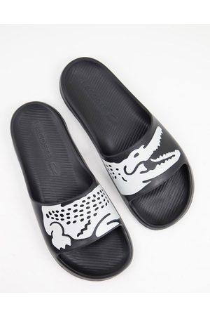 Lacoste Croco sliders 2.0 in black