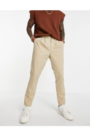 ASOS Cigarette chinos with pleats in