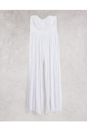 TFNC Wide leg jumpsuit in white