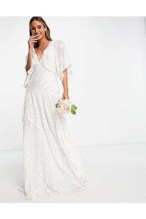 ASOS EDITION Jessica embroidered dobby mesh wedding dress