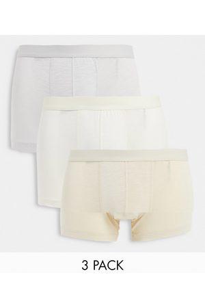 ASOS Modal 3 pack trunks in beige tones