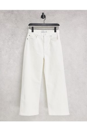 & OTHER STORIES Organic blend cotton high waist ovoid jeans in white