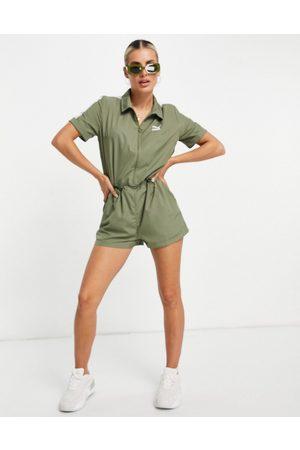 Puma Classics jumpsuit in green