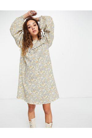 Vila Puff sleeve smock dress in print