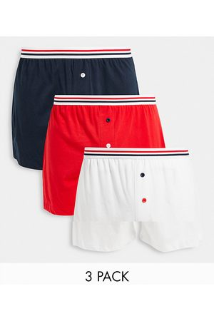 ASOS 3 pack boxers with contrast stripe waistbands