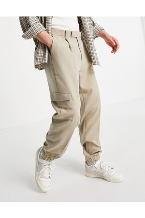 ASOS Oversized tapered cargo smart jogger in stone