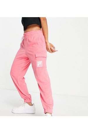 Fila Towelling joggers with pocket in pink