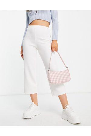 Closet High waist crepe wide leg trouser co