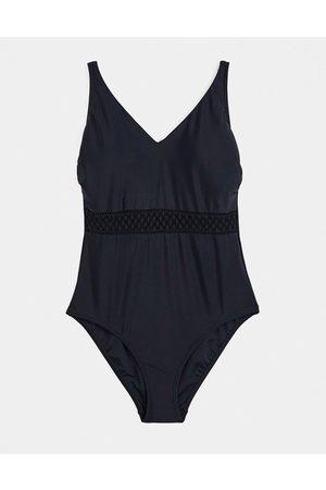 Pour Moi Fuller Bust Sahara swimsuit in black