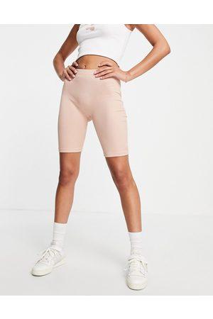 VERO MODA Ribbed legging shorts in pink