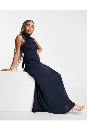 TFNC Maxi dress with lace detail in navy