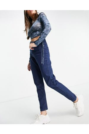 I saw it first High waisted mom jeans in dark wash