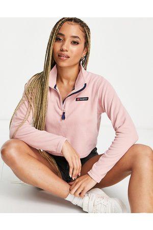 Berghaus Prism cropped 1/2 zip fleece in pink