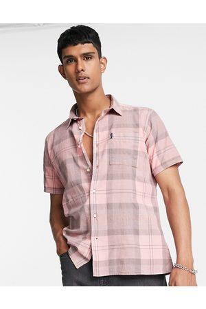 Barbour Tartan short sleeve shirt in light pink