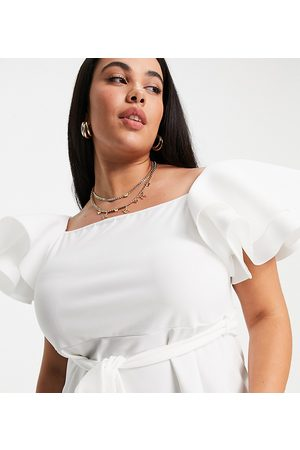 Yours Peplum top in white