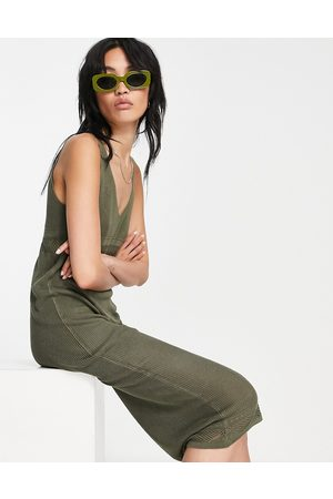 Y.A.S Knitted maxi dress in khaki