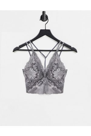 Aerie Lace bralette with removable padding in grey wash