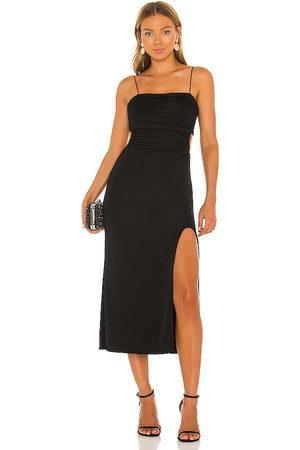 Cinq A Sept Vestido midi mariah en color talla 0 en - Black. Talla 0 (también en 00, 4, 6, 8).