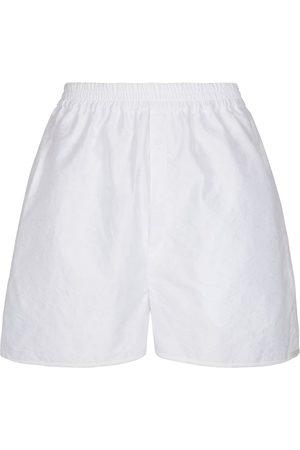 Cecilie Bahnsen Nivi high-rise matelassé shorts
