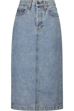 WARDROBE.NYC Mujer Midi - Midi denim skirt