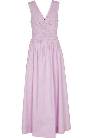 Staud Gloria stretch-cotton midi dress