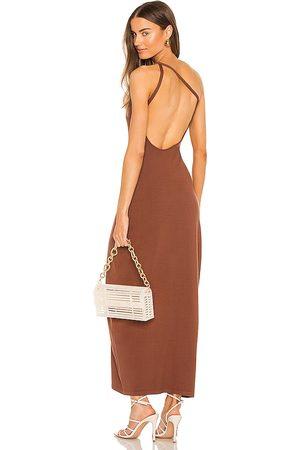 RONNY KOBO Vestido nalda en color chocolate talla L en - Chocolate. Talla L (también en XS, S, M).