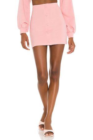Camila Coelho Minifalda laurell en color rosado talla L en - Pink. Talla L (también en XXS, XS, S, M, XL).