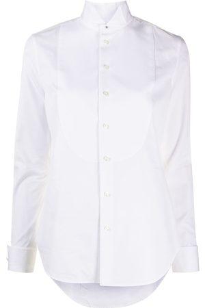 Ralph Lauren Mujer Camisas - Camisa con cuello de smoking