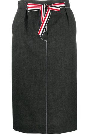 Thom Browne Mujer Faldas - Falda con lazo en la cintura
