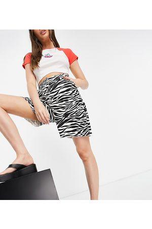 Native Youth High waist vintage mom shorts in zebra denim