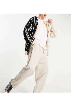 Reclaimed Inspired unisex relaxed tailored trousers in neutral co