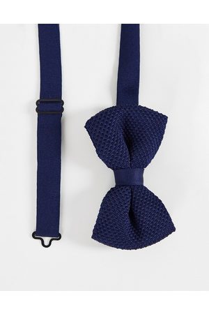 ASOS Hombre Pajaritas - Knitted bow tie in navy