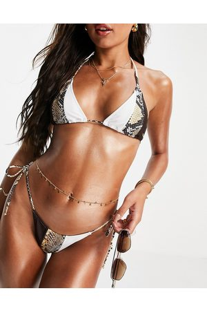 Candypants Mujer Bikinis - Triangle bikini top in snake mix