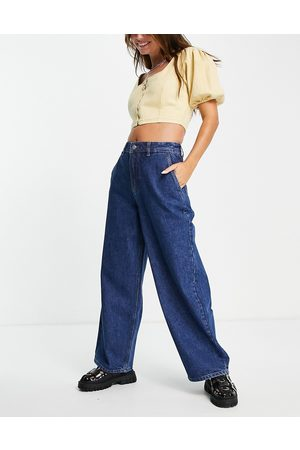 Bolongaro Abigail baloon leg jeans in mid indigo