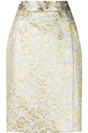 Dolce & Gabbana Falda con motivo de flor de lis