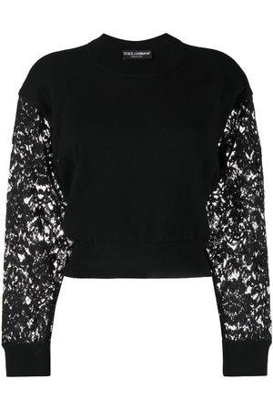 Dolce & Gabbana Suéter con mangas de encaje