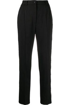 Dolce & Gabbana Mujer De vestir - Pantalones de vestir con ribete de encaje