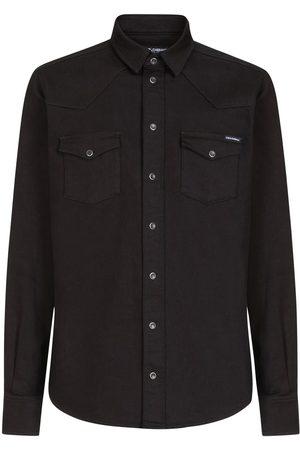 Dolce & Gabbana Camisa de mezclilla con logo estampado
