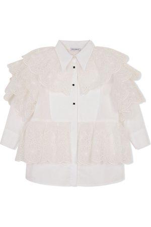 Dolce & Gabbana Niña Vestidos - Vestido camisero con volantes y botones