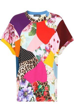 Dolce & Gabbana Mujer Playeras - Playera oversize con diseño patchwork