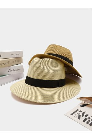 YOINS Mujer Sombreros - 1pc Solid Summer Vacation Big-brimmed Straw Hat