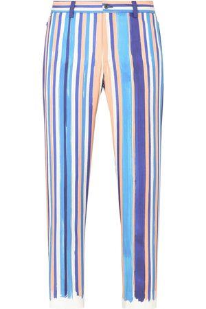 Dolce & Gabbana Hombre Pantalones y Leggings - Pantalones a rayas verticales