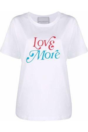Serafini Playera con estampado Love More